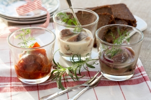 Tomat, sennep og sherrysild