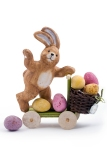 Easter bunny delivering Easter eggs