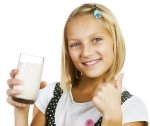 Girl Drinking Milk