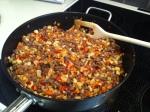 Grønnsaker og karbonadedeig