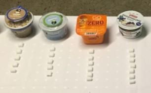 sukkerbiter i yoghurt og mellommåltider